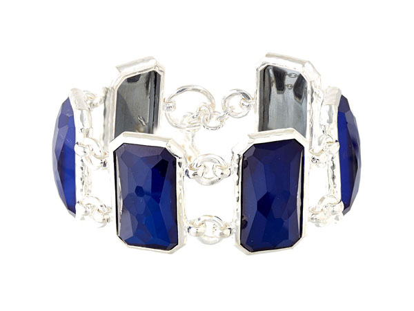 Silver blue Burton Wonderland rectangle bracelet from Ippolita