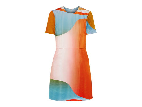 Sylvie printed satin-twill dress from Jonathan Saunders