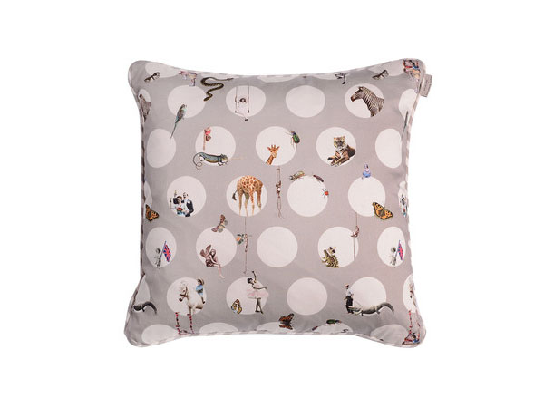Tonal character polka dot cushion from Emily Humphrey
