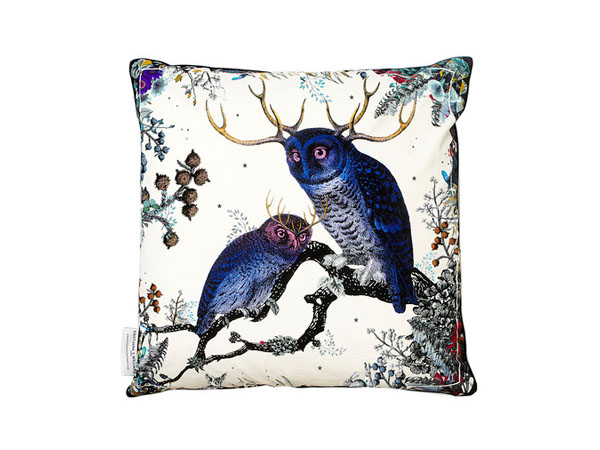 Twin owl cotton cushion from Kristjana S Williams