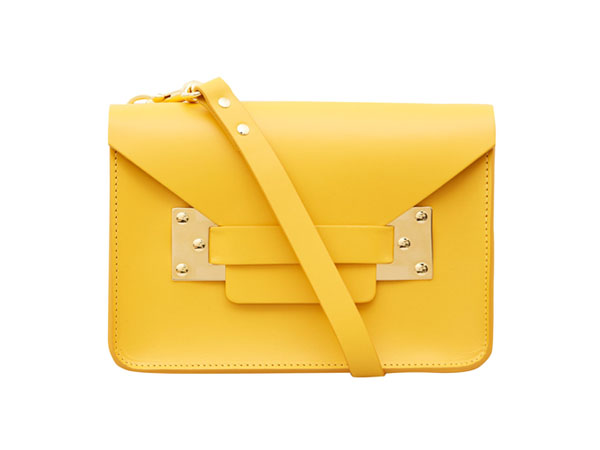 Yellow mini envelope bag from Sophie Hulme