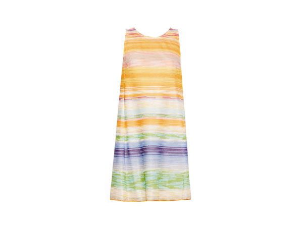 A-line multi-stripe knitted dress from Missoni