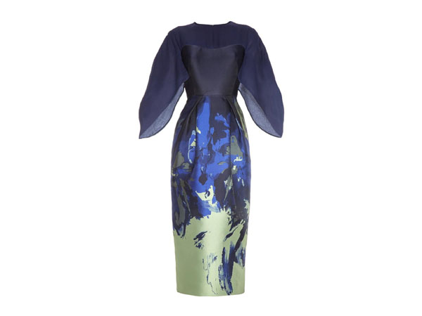 Brush-stroke jacquard dress from Antonio Berardi