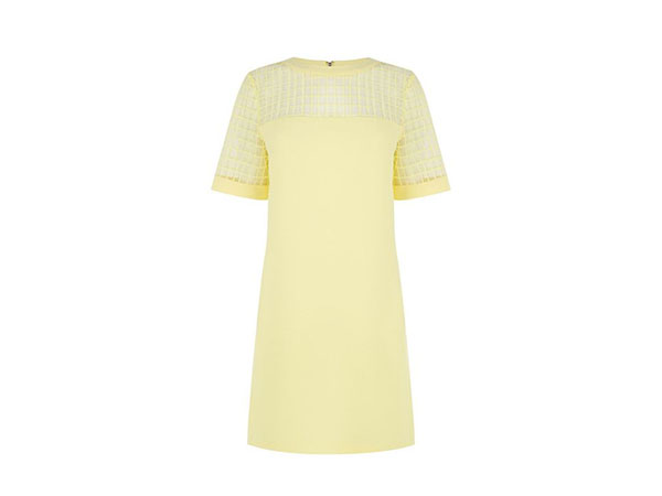 Fabric mix shift dress from Warehouse