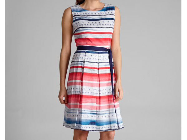 Fit and flare seagull stripe dress from Laura Ashley