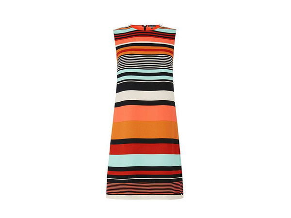 Striped shift dress from Warehouse