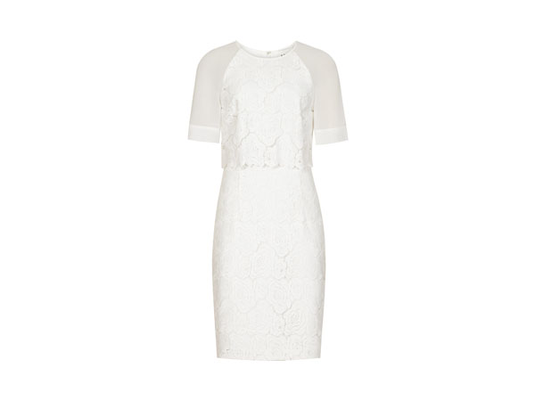 Calla floral overlay dress from Reiss