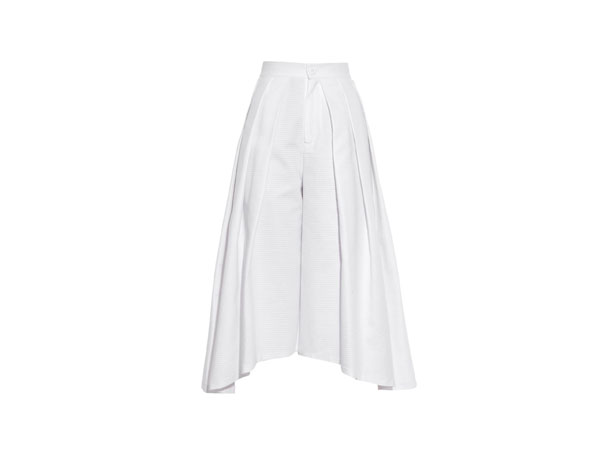 Cube pleated cotton culottes from Runway 1205