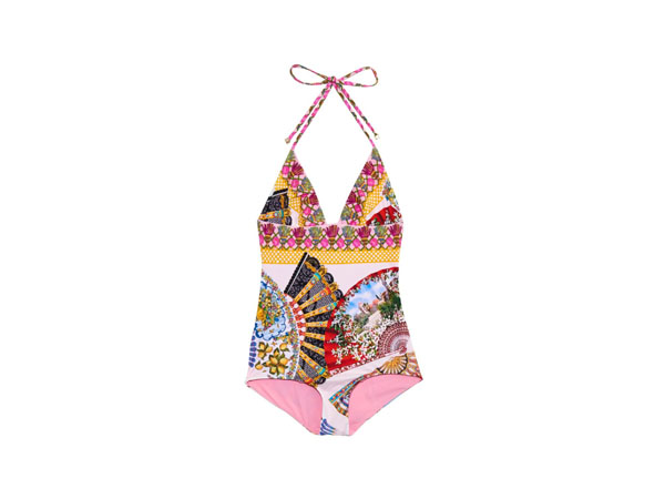 Foulard-print swimsuit from Dolce and Gabbana