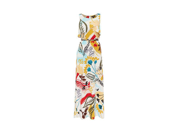 Illustration print maxi dress from Therapy