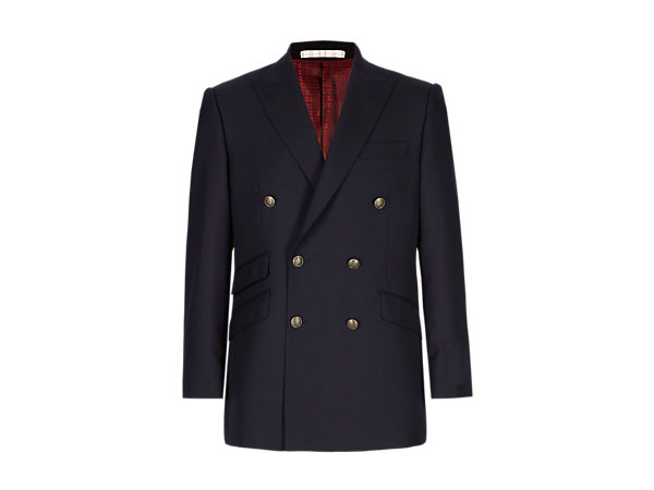 Pure new wool double breasted blazer from M and S Collection Luxury