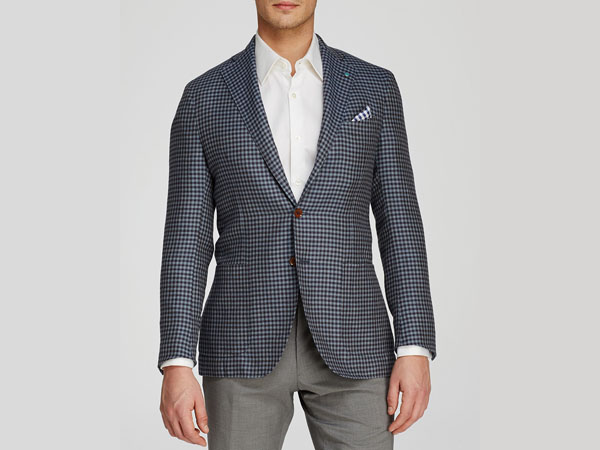 Shepherd check slim fit blazer from Eidos Tipo