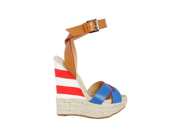 Leather wedge heel espadrilles from Dsquared2