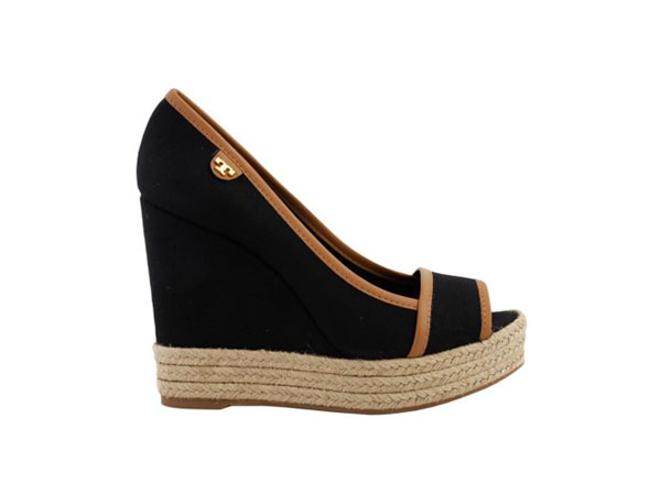 Majorca canvas and leather wedges from Tory Burch