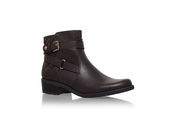 Lynzeeq3 flat buckle detail ankle boots from Anna Klein