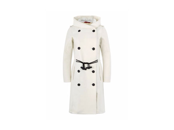Elfenbein bonded wool coat from Victorinox