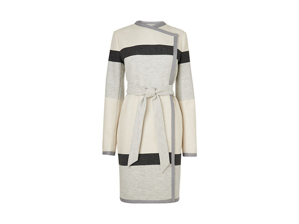 Halle stripe belted coat from LK Bennett