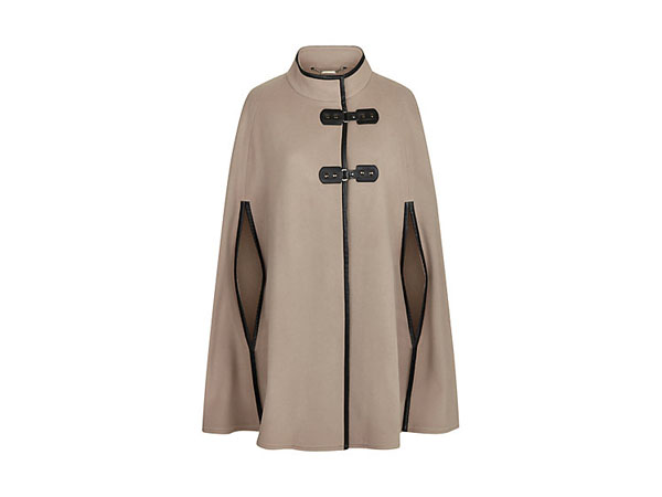 Leatherette trim cape from Windsmoor