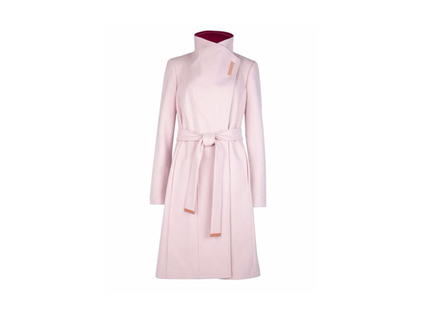 Lorah long wool wrap coat from Ted Baker