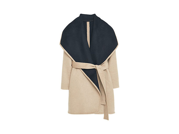 Waterfall wool blend coat from Mango