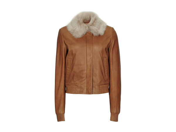 Mabel leather bomber jacket from Reiss