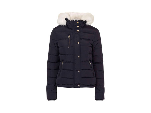 Tall puffa jacket from Topshop