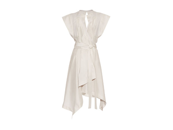 Lief wrap-front silk dress from Isabel Marant