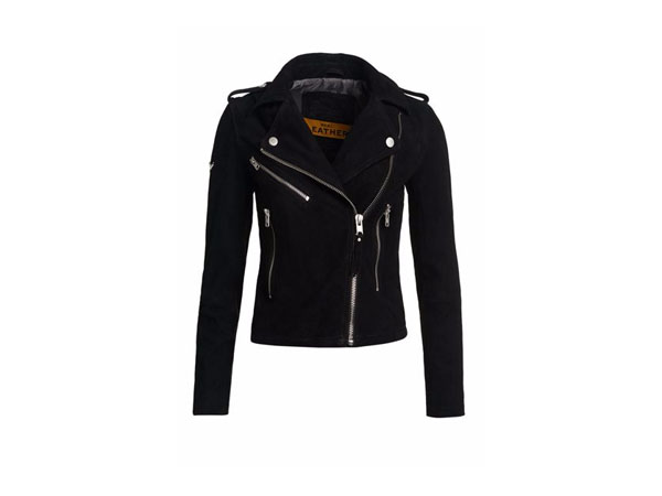 Suede biker jacket from Superdry