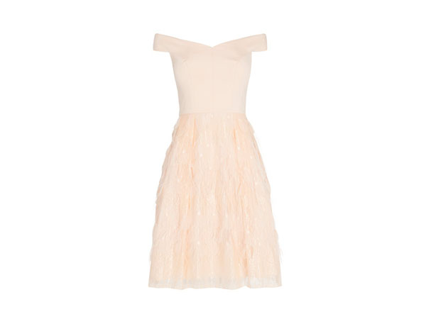 Keeley feather dress from Coast