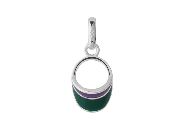 Sterling silver and enamel visor charm from Links of London