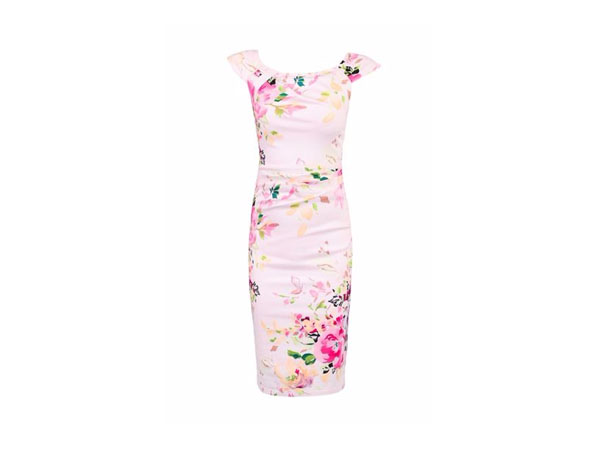Fashion pick: Floral print ruched wiggle dress from Jolie Moi