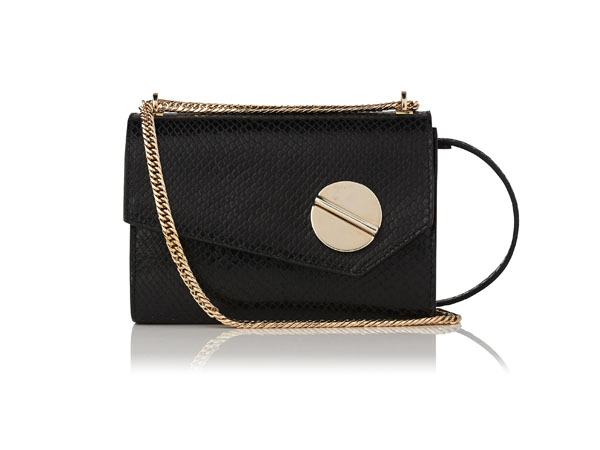 Fashion pick: Kay black snake effect shoulder bag from LK Bennett