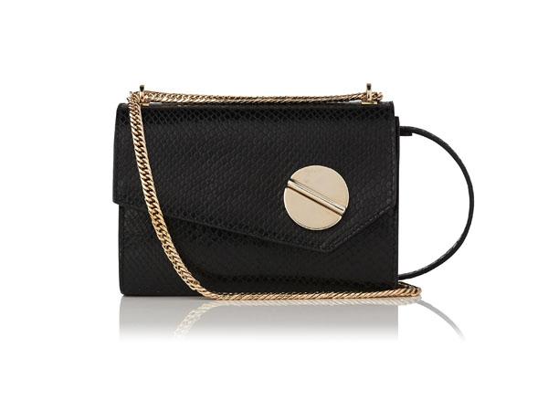 Fashion pick: Kay black snake effect shoulder bag from LK Bennett