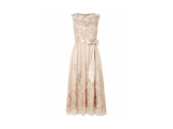 Fashion pick: Sleeveless floral embroidered dress with belt from Eliza J