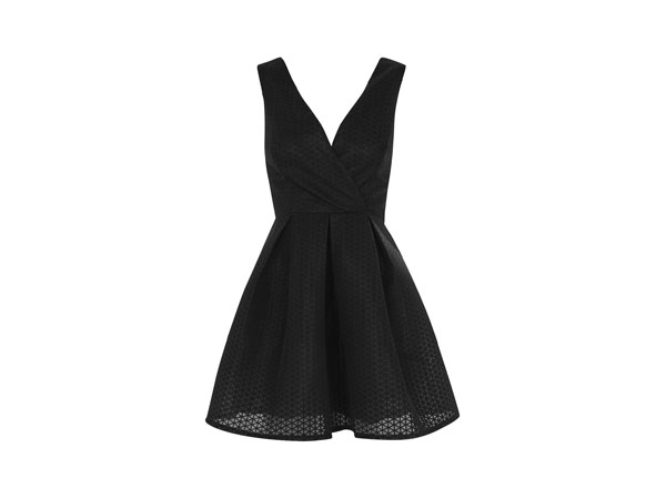 Textured plunge skater prom dress from Oh My Love