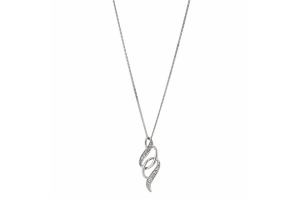 White gold diamond pendant from H Samuel