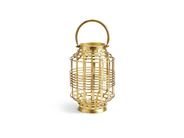 Banded hurricane candle holder from Marks and Spencer