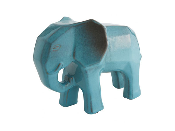 Dunston blue ceramic elephant from Habitat