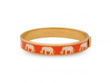 Elephant motif orange and gold bangle from Halcyon Days