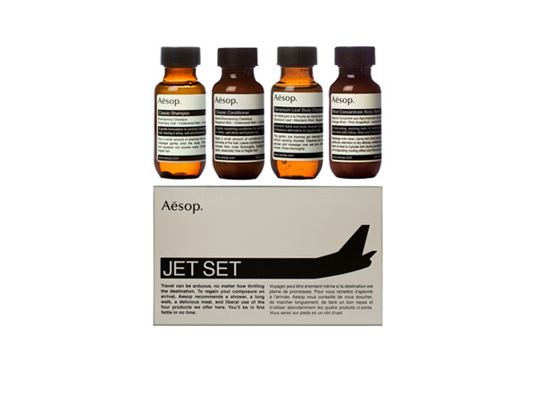 Jet Set travel collection from Aesop