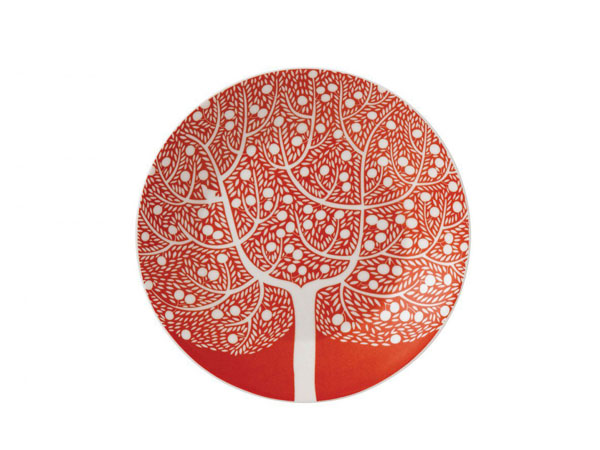 Karolin Schnoor fable red tree accent plate from Royal Doulton