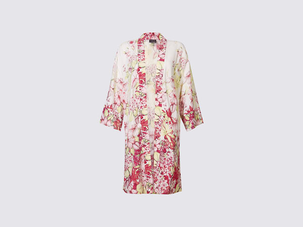 Longline floral print kimono jacket from M and S Collection
