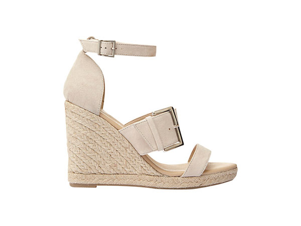 Olive wedge-heeled sandals from Mint Velvet