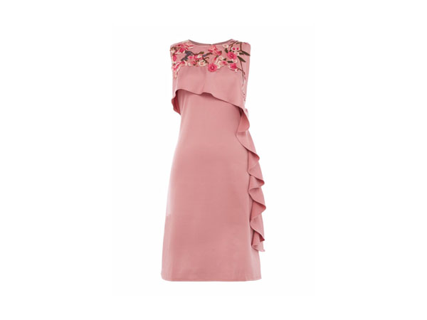 Sleeveless embroidered shift dress from Twilight Rose