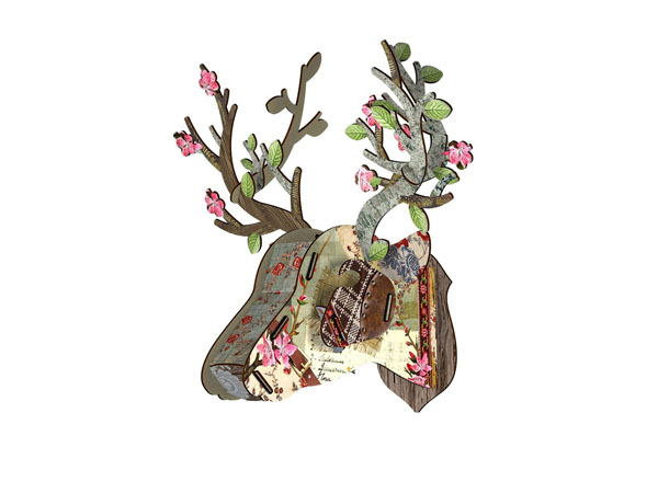 Miniature bonsai deer head ornament from Miho
