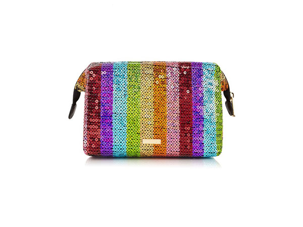 Rainbow sequin wash bag from Skinnydip
