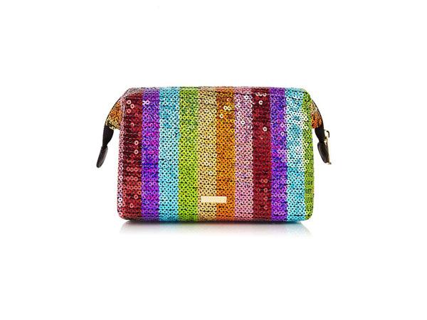 Rainbow sequin wash bag from Skinnydip