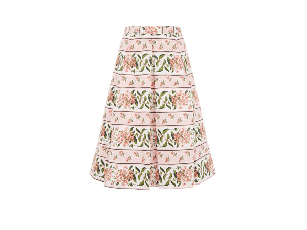Summer floral stripe skirt from Oasis