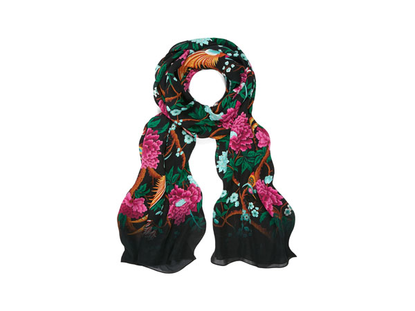 Elysian Paradise silk scarf from Liberty London
