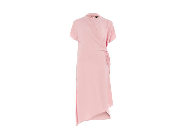 Slash neck wrap midi dress from Topshop